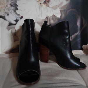 Kelsi Dagger, stacked heel, Gemma Heeled Booties.